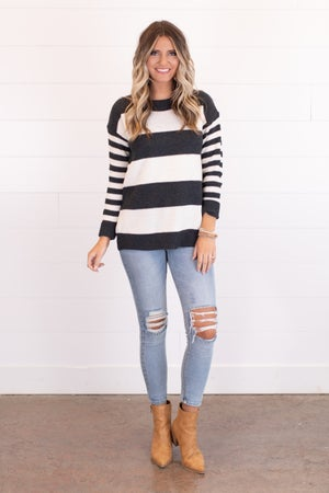 sku17859 | **Daily Deal** Striped Sweater
