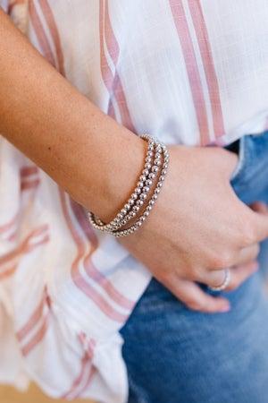 sku19076   Metal Bead Layered Bracelet Set
