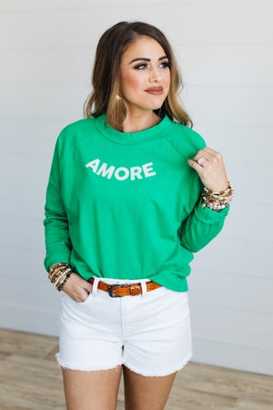 sku19616 | **Daily Deal** Amore Graphic Drawstring Pullover