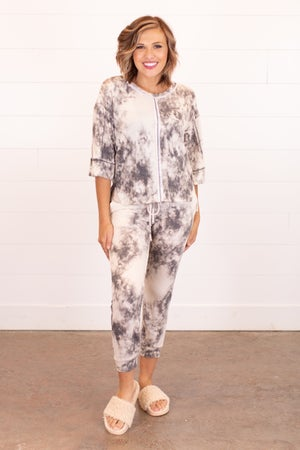sku16860 | Tie Dyed Reverse Stitch Lounge Set