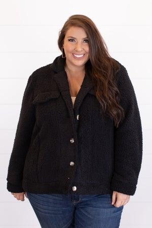 sku16864 | Sherpa Button Up Jacket