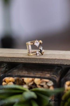 sku13862   Adjustable Cubic Zirconia Ring