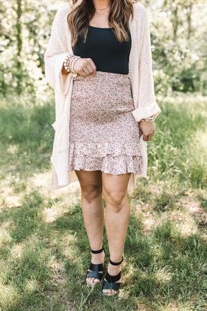 sku21042   Ditzy Floral Smocked Skirt