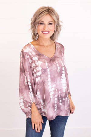 sku17395 | Abstract Tie Dyed Top