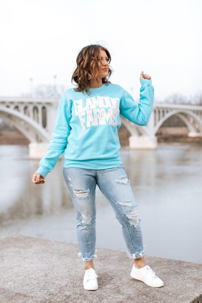 sku14717   Glamour Farms Graphic Sweatshirt