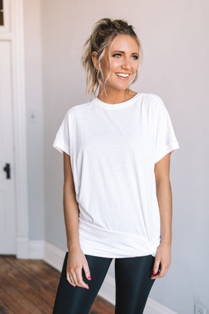 sku18852 | **Daily Deal** Side Twist Athleisure Tee