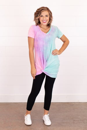 sku16746 | **Daily Deal** Tie Dyed Side Knot Dress