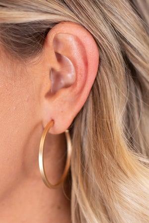 sku17277 | Matte Hoop Earrings