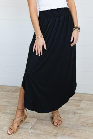 sku19651   **Daily Deal** Smocked Waist Maxi Skirt