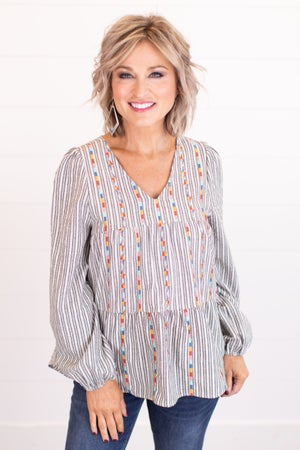 sku17186 | Embroidered Tiered Top