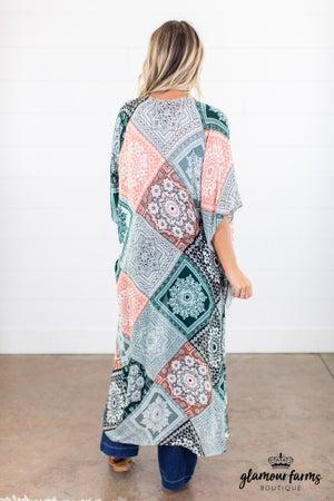 sku14960 | Moroccan Tile Kimono