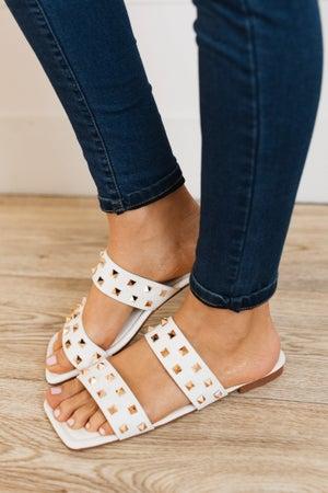 sku19800 | Spikky Studded Square Toe Sandal