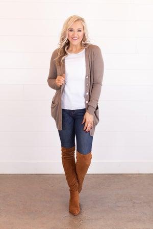 sku17729 | Button Up Sweater Cardigan