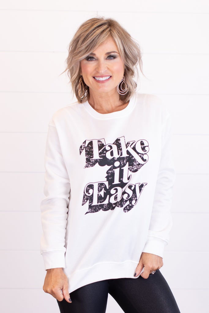 sku17422   Take It Easy Graphic Sweatshirt