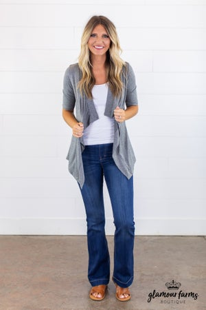 sku15171 | **Daily Deal** Draped Front Cardigan
