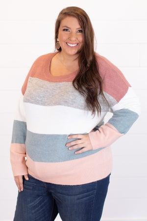 sku15456   Color Block Sweater