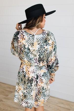 sku17183   Animal Print Dress