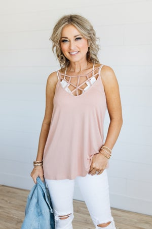 sku19168 | **Daily Deal** Strappy Neck Cami Top