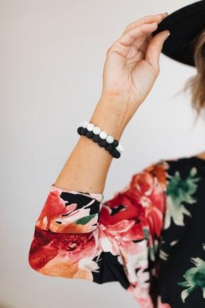 sku18604   Lava Diffusion Bead Stretch Bracelet
