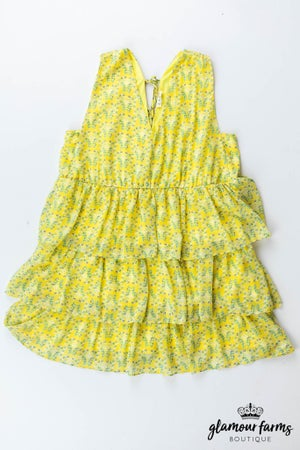 sku13133 | Floral Tiered Ruffle Dress