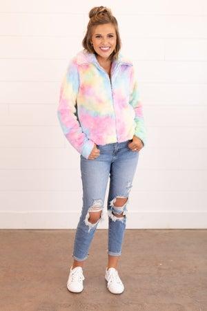sku16462 | Tie Dyed Sherpa Jacket