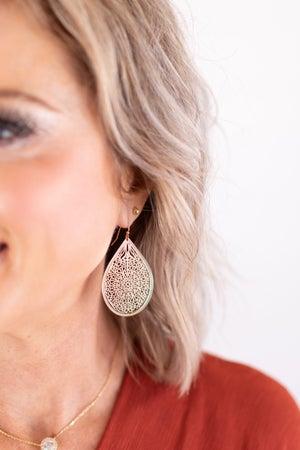 sku17255 | Filigree Teardrop Earrings