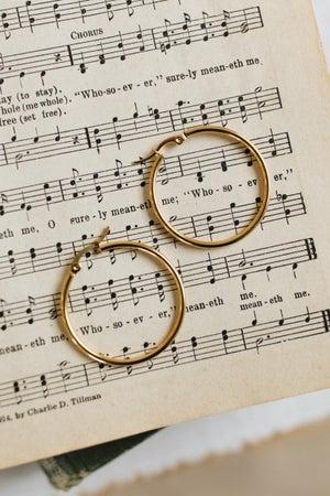 sku18581 | 35mm Hoop Earrings