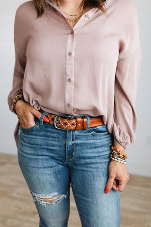 sk19428 | Embroidered Studded Belt