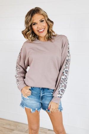 sku19769 | Contrast Sleeve Sweatshirt