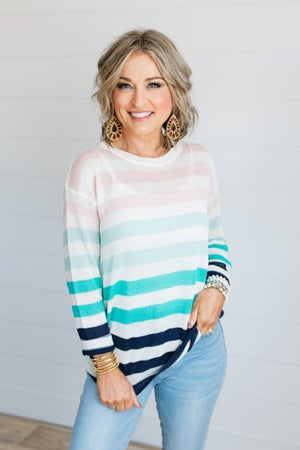 sku19363 | Striped Lightweight Sweater
