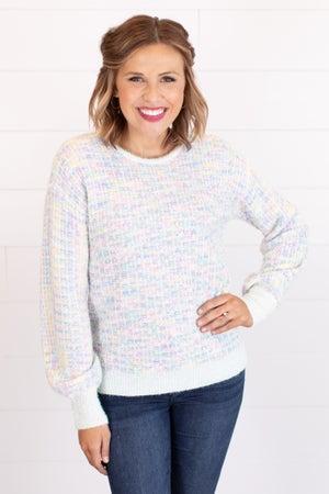 sku15458 | Speckled Lurex Knit Sweater