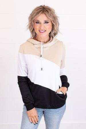 sku16680 | Color Block Hooded Pullover