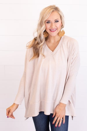 sku17740 | Brushed Knit Poncho Top