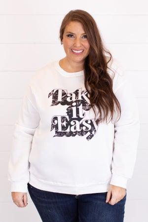 sku17422 | Take It Easy Graphic Sweatshirt