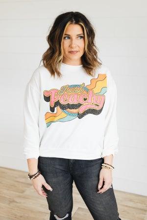 sku21081 | Just Peachy Graphic Sweatshirt