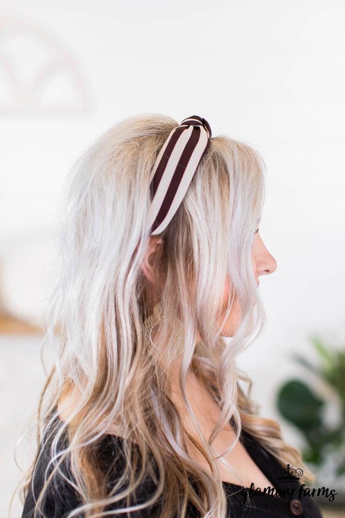 sku9151   Stripe Head Band