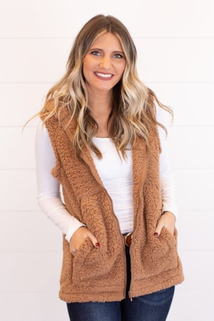 sku17823 | **Daily Deal** Sherpa Hooded Vest