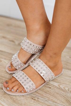 sku18780   Spikky Studded Slide Sandal
