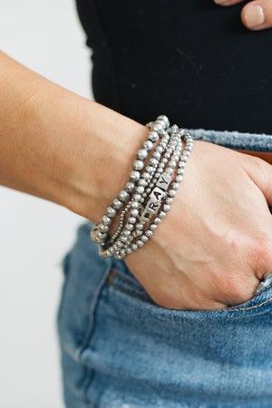 sku20815   Inspirational Beaded Bracelet Set