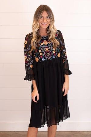 sku16912 | Embroidered Babydoll Dress