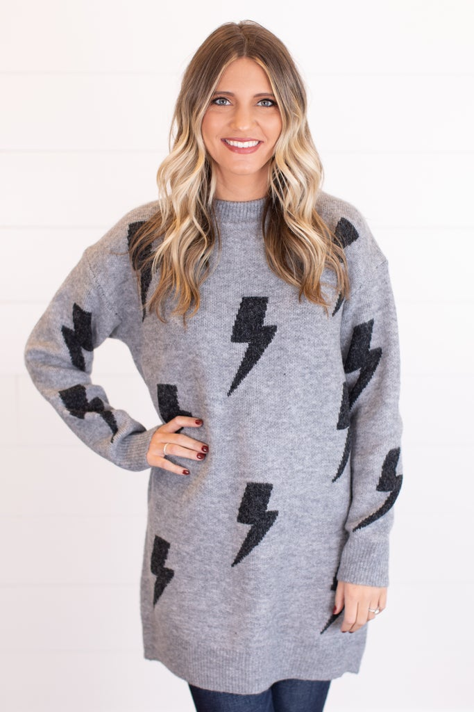 sku16748 | Lightning Bolt Sweater Dress