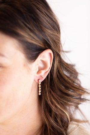 sku17259 | Crystal Dangle Chain Earrings