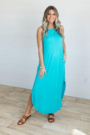sku20569 | **Daily Deal** Side Slit Maxi Dress