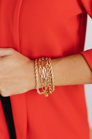 sku19333   Layered Mix Chain Bracelet