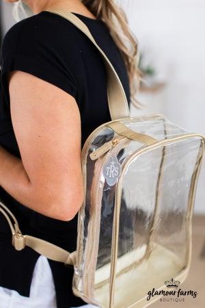 "sku14010 | Clear Sling Pack Bag - 15"""