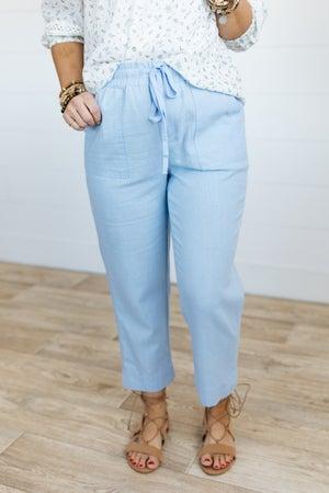 sku20107 | Linen Crop Drawstring Pants