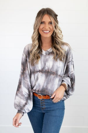 sku18031 | **Daily Deal** Tie Dyed Dolman Top