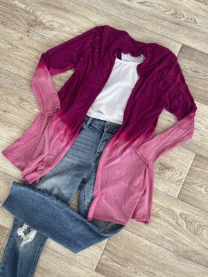 sku19161 | Tie Dyed Draped Front Cardigan