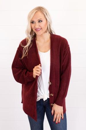 sku16316   Heathered Knit Sweater Cardigan