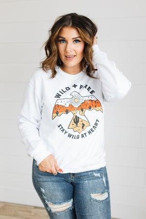 sku20060 | Wild & Free Graphic Sweatshirt